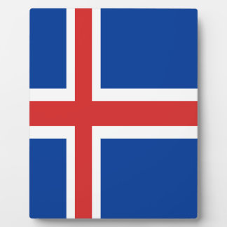 Iceland flag design on products plaque