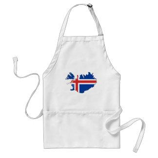 Iceland flag map standard apron
