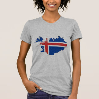 Iceland flag map T-Shirt