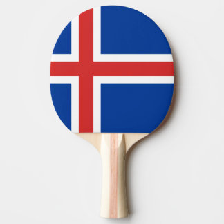 Iceland Flag Ping Pong Paddle