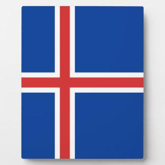 Iceland Flag Plaque