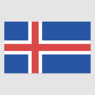 Iceland flag rectangular sticker
