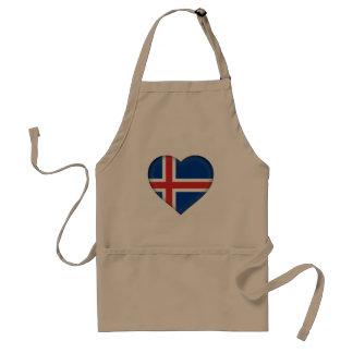 Iceland Flag Standard Apron
