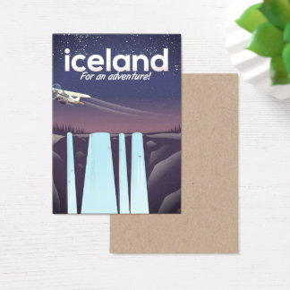 "Iceland "" For an adventure!' Business Card"