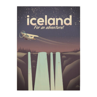 "Iceland "" For an adventure!' Wood Print"