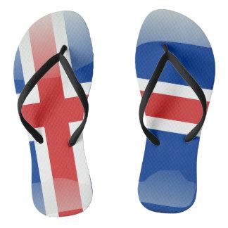 Iceland glossy flag thongs