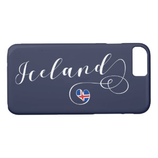 Iceland Heart Cell Phone Case, Icelandic iPhone 8/7 Case