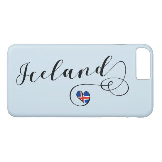 Iceland Heart Cell Phone Case, Icelandic iPhone 8 Plus/7 Plus Case