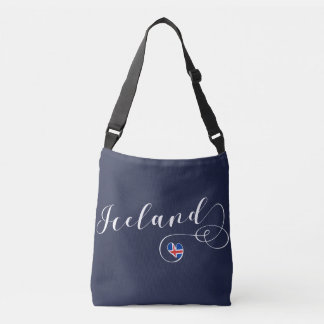 Iceland Heart Customizable Bag, Icelandic Crossbody Bag