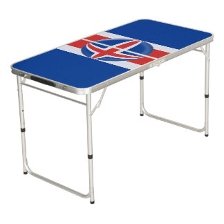 Iceland Icelandic Flag Beer Pong Table
