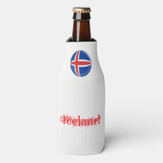Iceland Icelandic Flag Bottle Cooler
