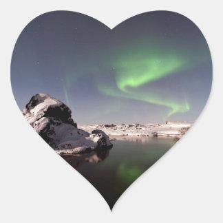 Iceland in Winter Heart Sticker