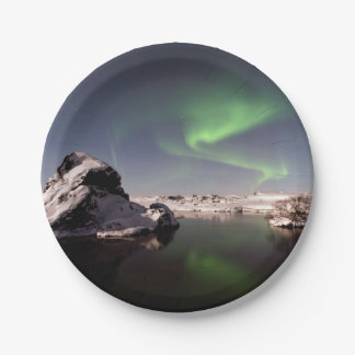 Iceland in Winter Paper Plate