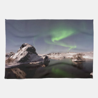 Iceland in Winter Tea Towel