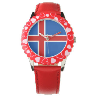 Iceland Kid's Watch - The flag of Iceland