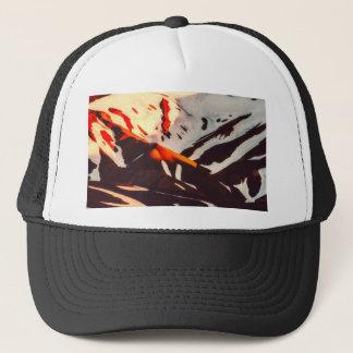 iceland landscape mountains snow trucker hat