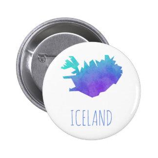 Iceland Map 6 Cm Round Badge
