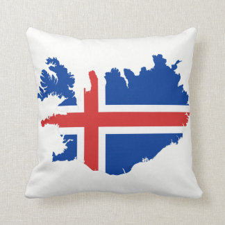 Iceland Map flag Throw Pillow