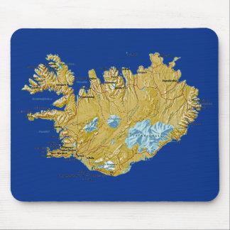 Iceland Map Mousepad