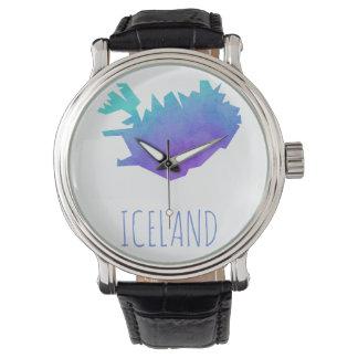 Iceland Map Wrist Watches