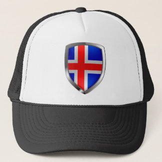 Iceland Metallic Emblem Trucker Hat