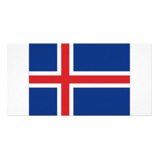 Iceland National Flag Photo Greeting Card