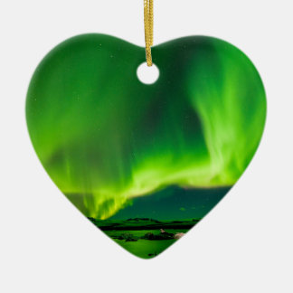 Iceland Northern Lights Ceramic Ornament