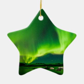 Iceland Northern Lights Ceramic Star Decoration