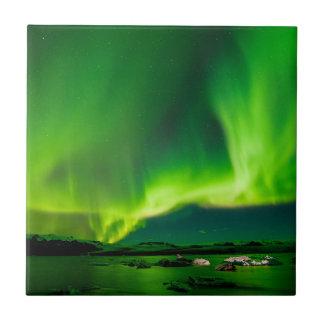 Iceland Northern Lights Ceramic Tile