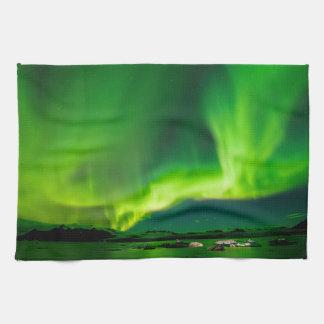 Iceland Northern Lights Tea Towel