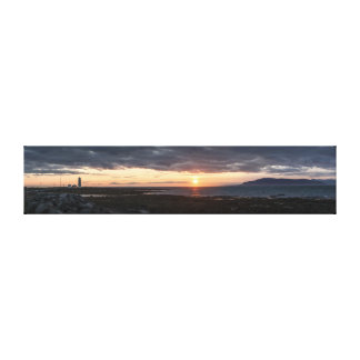 Iceland panorama sunset canvas