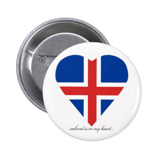 ICELAND PINBACK BUTTONS