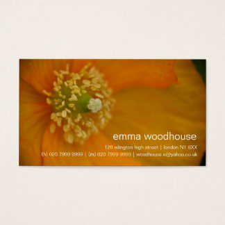 Iceland Poppies • Personal Business Card
