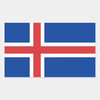 ICELAND RECTANGULAR STICKER