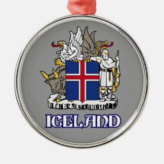 ICELAND - seal/emblem/blazon/coat of arms/symbol Metal Ornament