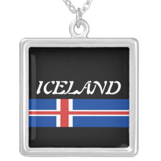 Iceland Square Pendant Necklace