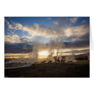 Iceland Sunset Card