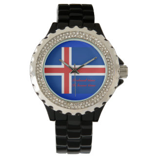 Iceland time is home time wristwatch