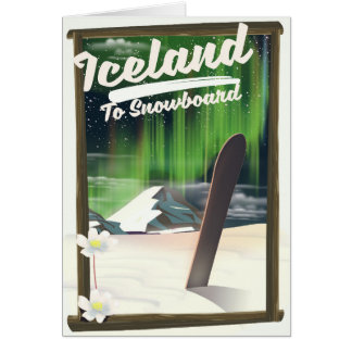 Iceland to Snowboard Card