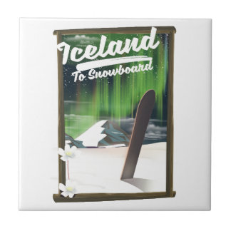 Iceland to Snowboard Tile