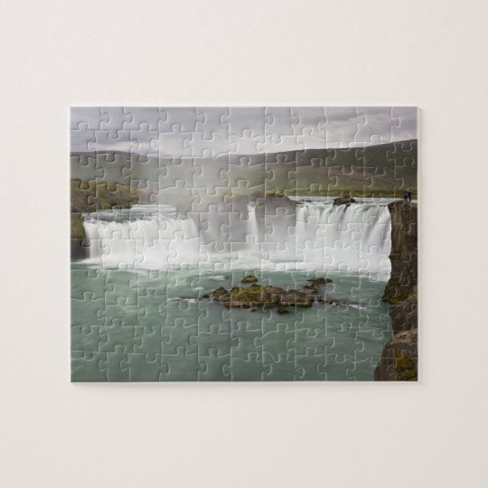 Iceland. View of Godafoss Falls on the Jigsaw Puzzle