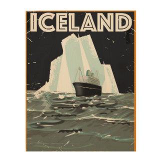 Iceland Vintage Poster