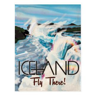 Iceland Vintage Travel Poster Postcard