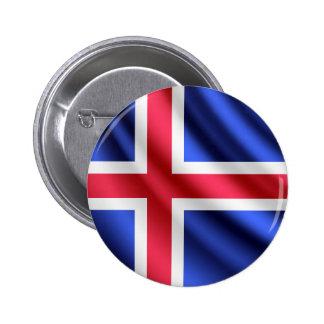 Iceland waving flag pinback button