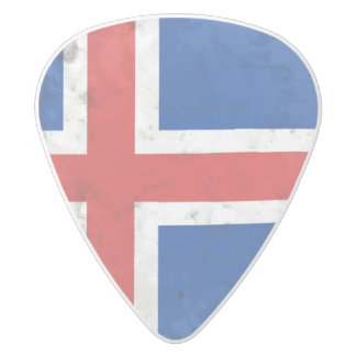 Iceland White Delrin Guitar Pick