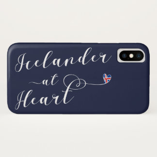 Icelander At Heart Cell Phone Case, Iceland iPhone X Case
