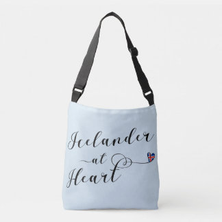 Icelander At Heart Customizable Bag, Iceland Crossbody Bag