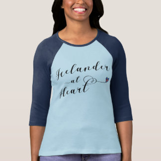 Icelander At Heart T-Shirt, Iceland T-Shirt