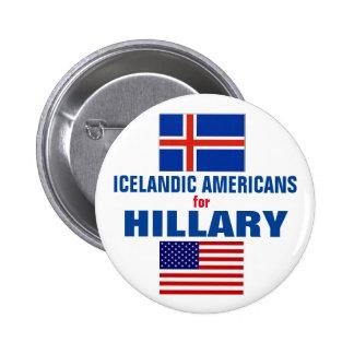 Icelandic Americans for Hillary 2016 6 Cm Round Badge