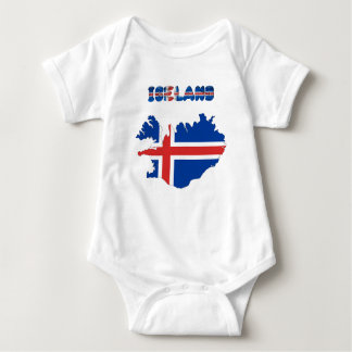 Icelandic flag baby bodysuit